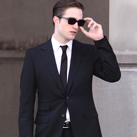 sunglasses and suit