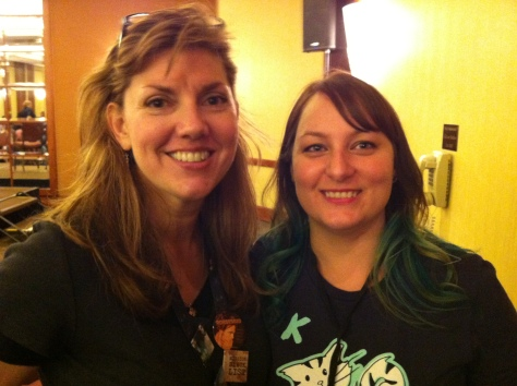 Michelle and ooza at TFMU 2013 [Please note: I'm truly not a stalker… FINE, I am an ooza stalker.]