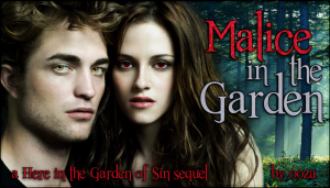 malice in the garden banner