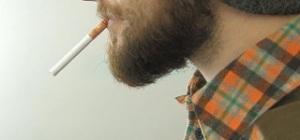 beard and cig