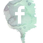 a facebook icon