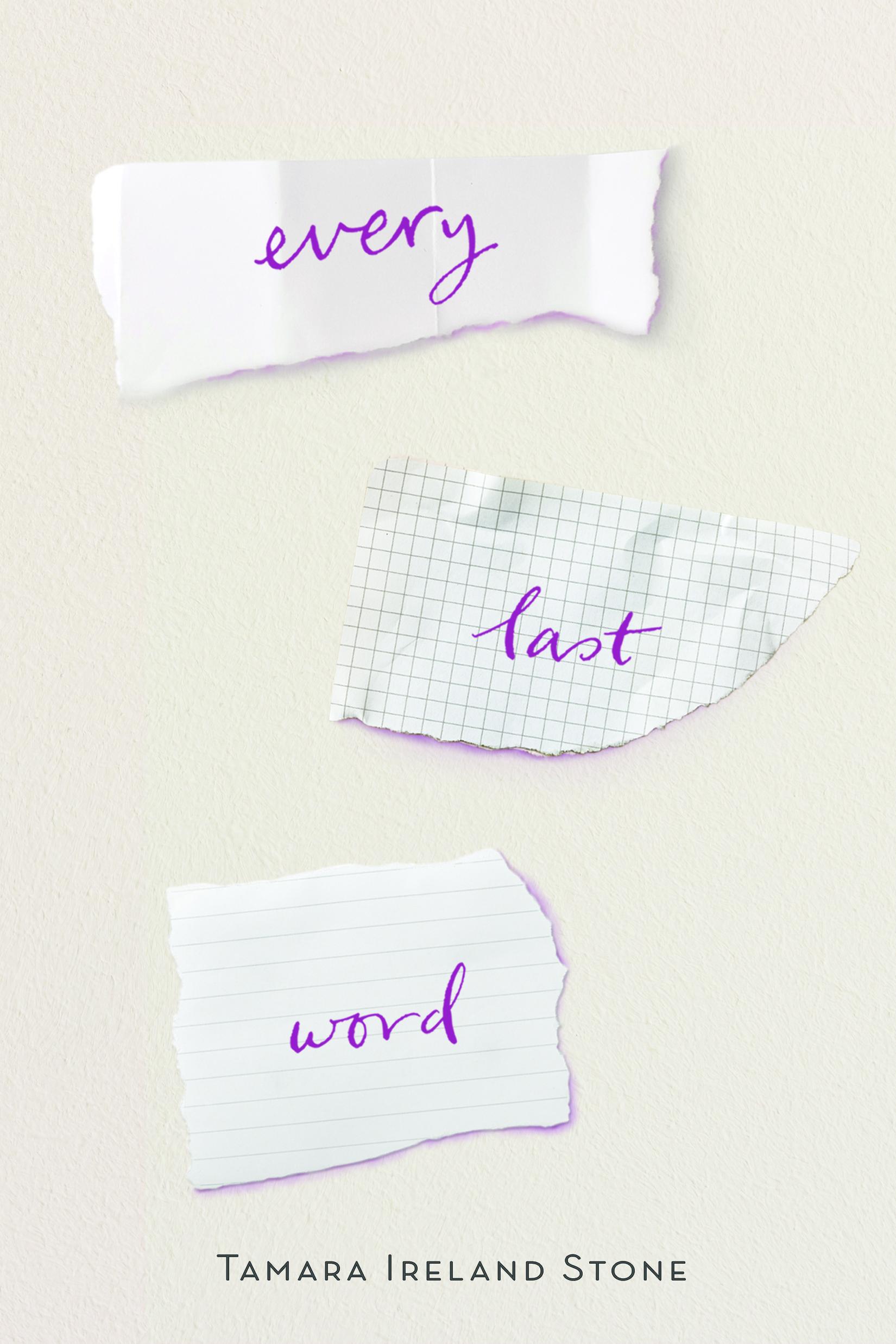 Resultado de imagen de Every last word - Tamara Ireland Stone